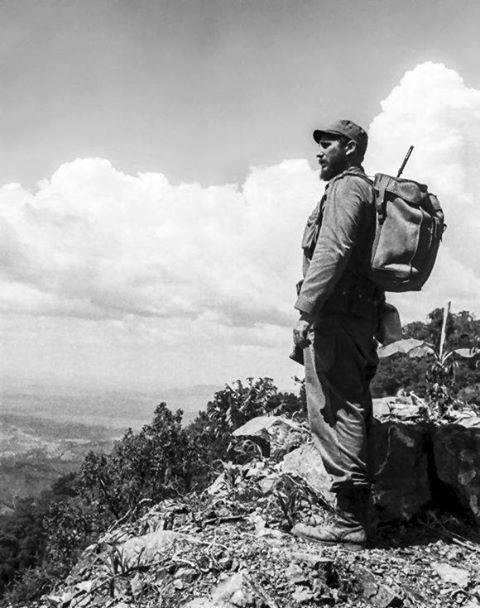 Fidel Castro en la Sierra Maestra.