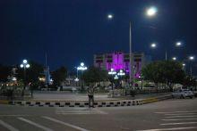 Luces en la noche holguinera. Foto: Carlos Parra Zaldívar.