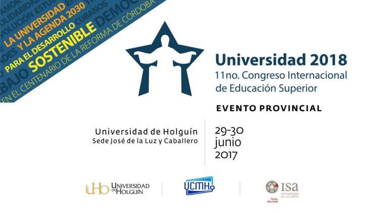 En Universidad 2018 podrá asistir toda la comunidad universitaria, aunque no sean delegados al evento provincial. Diseño: Adrián Fernández Cuba.