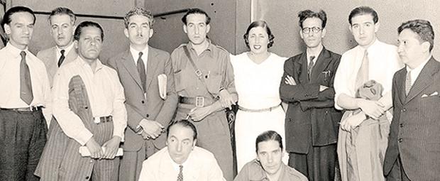 Intelectuales en el coloquio de Valencia 1937. Foto: Internet