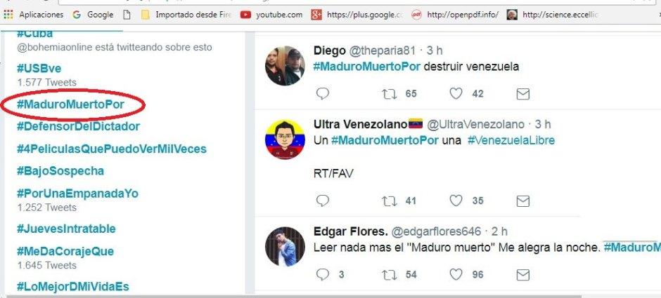 Twitter se presta para al ataque a Venezuela.