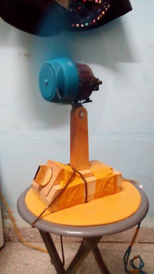 """Ventilador Orbita en pleno """"proceso productivo"""". Foto: Marjel Morales Gato."""