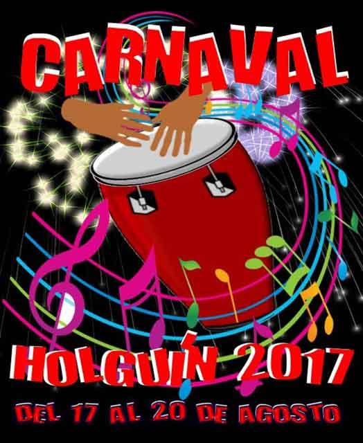 Cartel del Carnaval Holguín 2017, diseñado por Benito Álvarez.