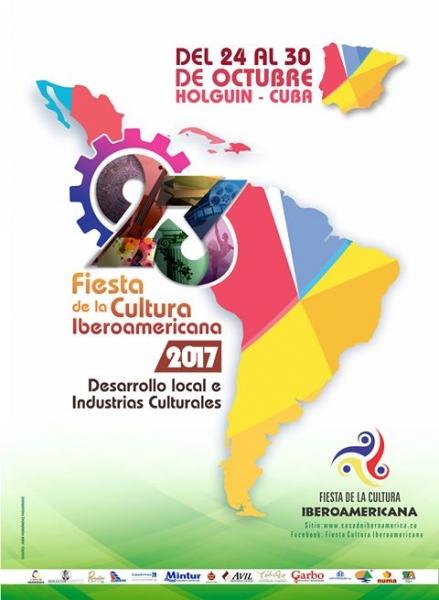 Cartel Oficial de la edición de la Fiesta de la Cultura Iberoamericana en 2017.