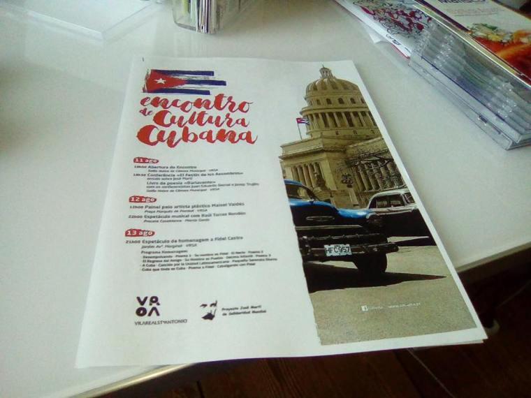 Encuentro de Cultura Cubana en Vila Real de San Antonio, Portugal.