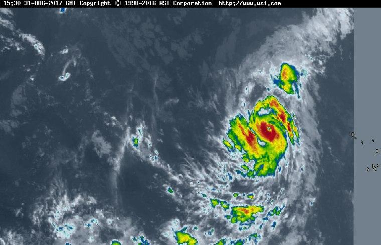 Huracán Irma rumbo al Caribe.