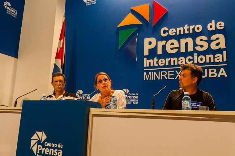 Gladys Bécquer, vicepresidenta del INDER, ofrece detalles sobre la carrera. Foto tomada de Cubahora.
