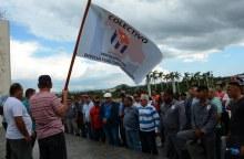 Contingente de electricistas procedentes de Holguín, para laborar en las afectaciones del huracán Irma en la región central, son recibidos en el Complejo Escultórico Ernesto Che Guevara, provincia Villa Clara, Cuba, el 13 de septiembre de 2017. ACN FOTO/Arelys María ECHEVARRÍA RODRÍGUEZ