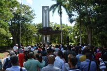 Monumento a Lucía Iñíguez en la Plaza de la Revolución. VDC FOTO/Luis Ernesto Ruiz Martínez.