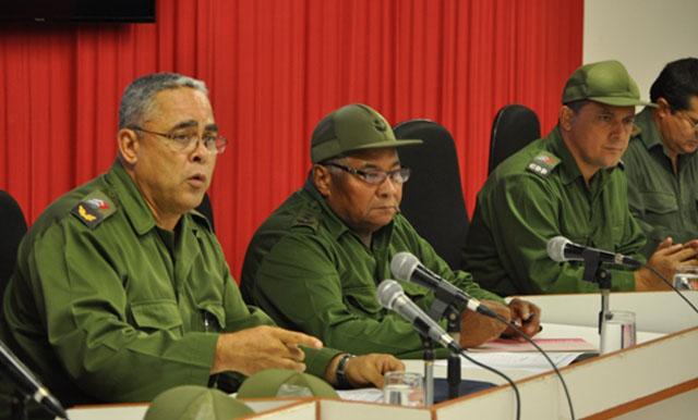 Reunión del Consejo de Defensa Provincial (CDP) en Holguín. Foto: Luis Mario Rodríguez Suñol/Ahora.