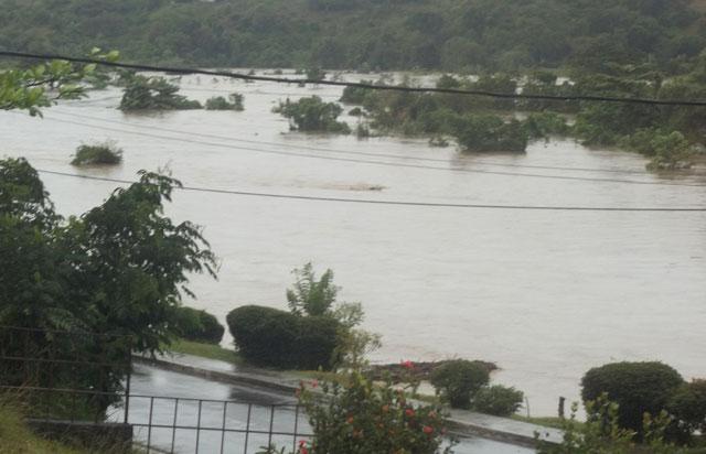 Afectaciones en Sagua de Tánamo.