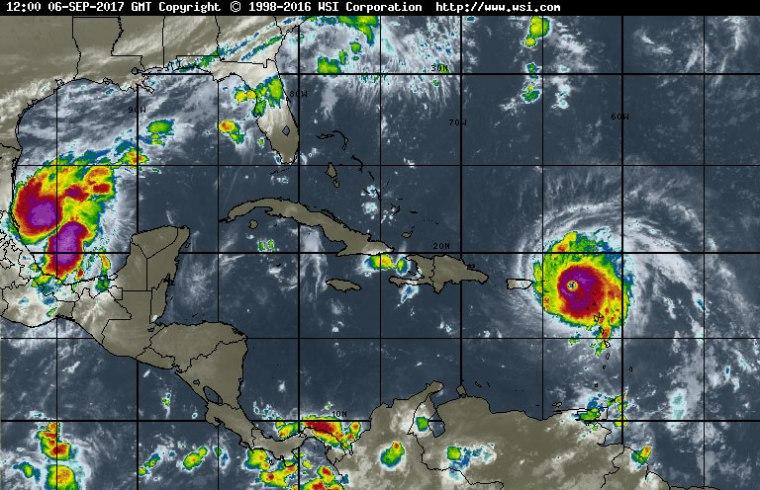 Imagen infrarroja del satélite. Fuente: Intellicast.