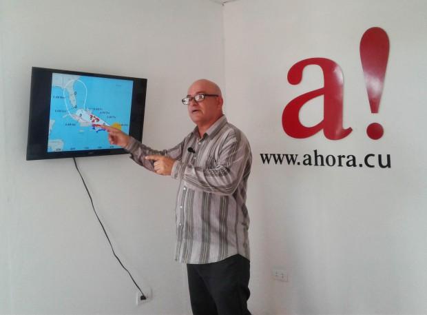 Meteorólogo Jorge Proenza. Foto: Elizabeth Velázquez/Ahora.