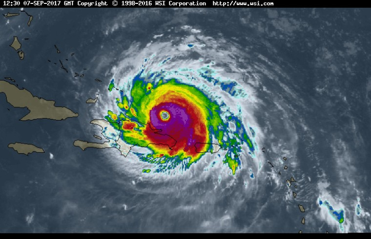 Imagen del satélite. Fuente: Intellicast.