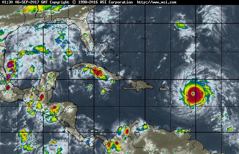 Muy activa la zona del Caribe con la presencia del poderoso Huracán Irma.