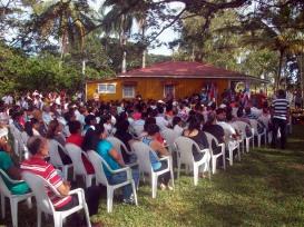 El independentista puertoriqueño Oscar López Rivera fue recibido en Birán para cumplimentar una breve visita a la provincia Holguín, tierra natal de Fidel Castro Ruz. VDC FOTO/Luis Ernesto Ruiz Martínez.