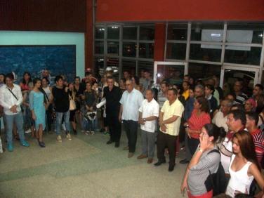 El independentista puertoriqueño Oscar López Rivera visita la sede de Tele Cristal para dejar inaugurada una exposición en la Sala Patria. VDC FOTO/Luis Ernesto Ruiz Martínez.