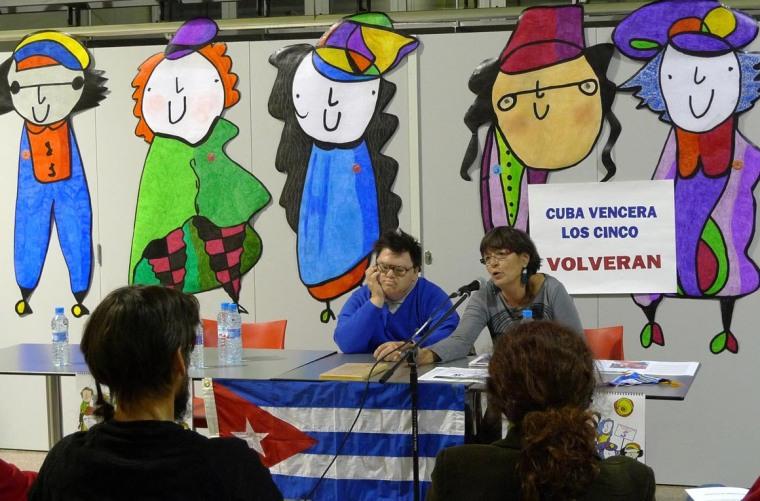 Paco y Rosa e una de las actividades por la liberación de Los Cinco. Foto tomada de Internet