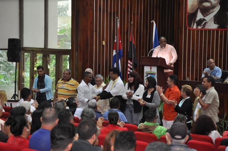 Delegación de Holguín al X Congreso de la Upec. Foto: Elder Leyva/Ahora.