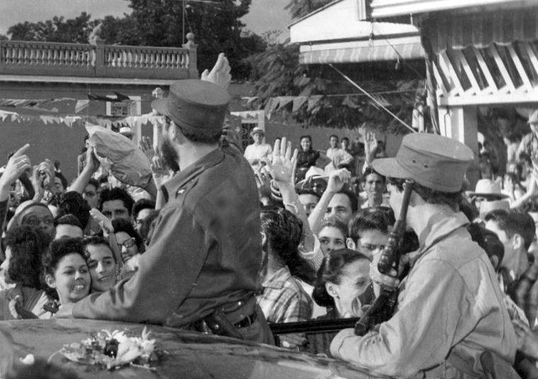 La caravana gloriosa fue recibida por el puebo a su paso por toda la isla desde el 2 al 8 de enero de 1959. Foto tomada de internet.
