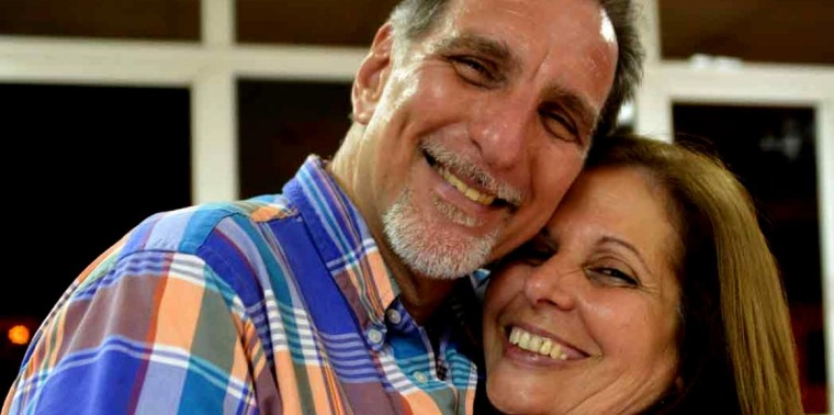 Olga Salanueva y René González. Foto tomada de internet.