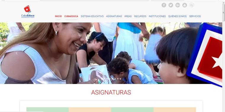 Captura del Portal Cubaeduca.