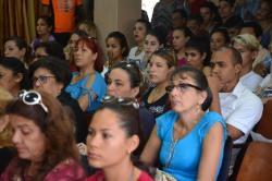 Acto de apertura del V Taller Universidad-Sociedad desarrollado el 14 de marzo de 2018, en la sede José de la Luz y Caballero, de la Universidad de Holguín. UHO FOTO/Luis Ernesto Ruiz Martínez.