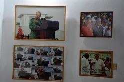 """Exposición fotográfica """"Memoria de luchas"""", del fotógrafo Albino Moldes1, inaugurada en la sede provincial de la UNEAC de Holguín, el 30 de abril de 2018. VdC FOTO/Luis Ernesto Ruiz Martínez."""