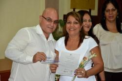 Araiz Maturell Aguilera recibe su Título de Doctor en Ciencias, en acto efectuado en la sede José de la Luz y Caballero de la Universidad de Holguín, el 30 de mayo de 2018. UHo FOTO/Luis Ernesto Ruiz Martínez.