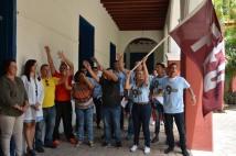 Acto de abanderamiento de la delegación holguinera al Noveno Congreso de la Federación Estudiantil Universitaria, efectuado en La Periquera el 27 de junio de 2018. UHo FOTO/Luis Ernesto Ruiz Martínez.