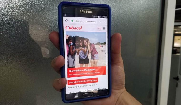 Portales como Mi Cubacel, utilitarios para los usuarios de móviles en Cuba, ya son accesibles por la red de datos móviles de forma gratuita. Autor: Javier Rodríguez Perera/JR.