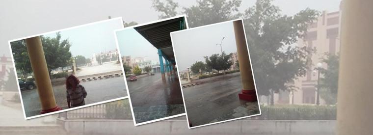 Tormenta local en Holguín el 11 de julio de 2018. Fotos publicadas por Tatyana Galbán.