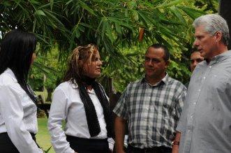 Recorrido de Miguel Díaz-Canel por Holguín. Foto: Elder Leyva/Ahora.