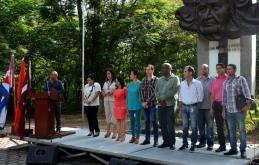 El Dr. C. Reynaldo Velázquez Zaldívar, Rector de la UHo, presenta a los miembros del Consejo de Dirección de la institución. Lunes 3 de septiembre de 2018. UHo FOTO/Luis Ernesto Ruiz Martínez.