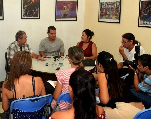 Conferencia de prensa de Buena Fe. Foto: Juan Carlos Borjas.