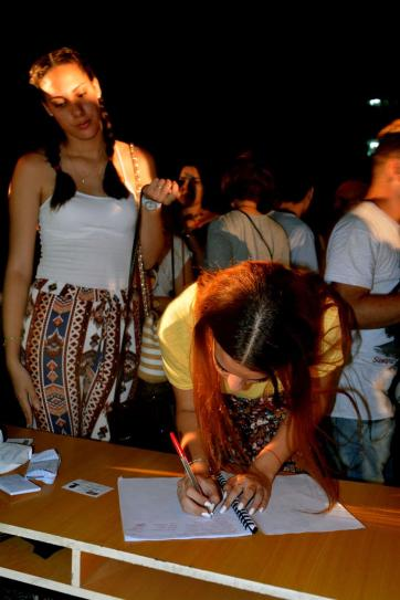 Acto de ingreso a la FEU de estudiantes de primer año de la Universidad de Holguín, efectuado en la sede Oscar Lucero Moya, el 27 de septiembre de 2018. VdC FOTO/Luis Ernesto Ruiz Martínez