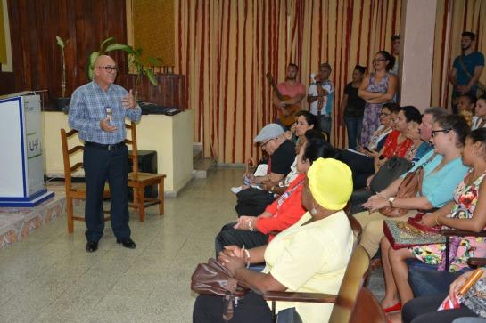 Panel por la Cultura Cubana desarrollado en la sede José de la Luz y Caballero, el 17 de octubre de 2018. UHO FOTO/Luis Ernesto Ruiz Martínez.