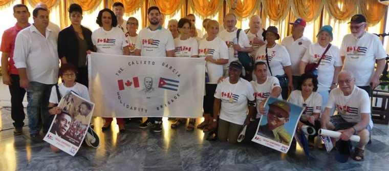 Primer contingente de la Brigada de solidaridad y Trabajo voluntario Calixto García Íñiguez. Foto: Arnaldo Vargas Castro.