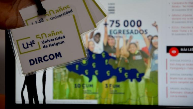 La Dirección de Comunicación Institucional de la UHo, desarrolló un amplio plan de acciones comunicativas en saludo al aniversario 50 de la institución. Foto: Luis Ernesto Ruiz Martínez.