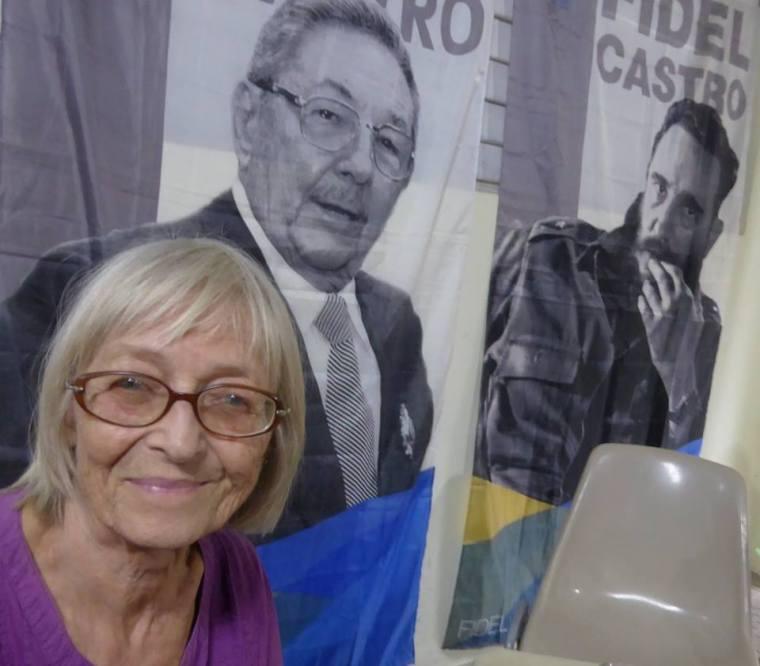 La solidaria alemana Sabine Caspar anda siempre con Cuba en el corazón