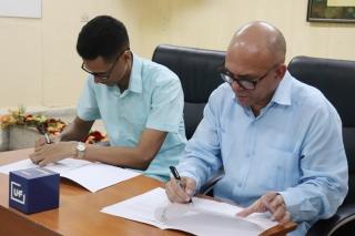 Firma de convenio marco de colaboración con el telecentro provincial Telecristal. Desarrollado en la sede Celia Sánchez Manduley, el 01 de noviembre de 2018-UHO/Foto: Yudith Rojas Tamayo