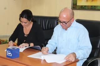 Firma de convenio marco de colaboración con la CMKO Radio Angulo. Desarrollado en la sede Celia Sánchez Manduley, el 01 de noviembre de 2018-UHO/Foto: Yudith Rojas Tamayo