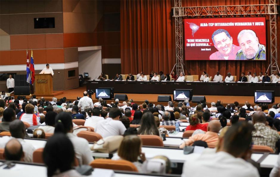 Cumbre del ALBA-TCP desarrollada en La Habana, el 14 de diciembre de 2018. Foto tomada de albaciudad.