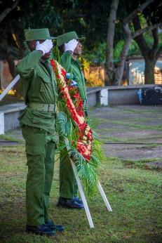 Tributo del pueblo holguinero a los héroes y mártires caídos por la defensa de la Patria. 7 de diciembre de 2018. FOTO/William Parrao
