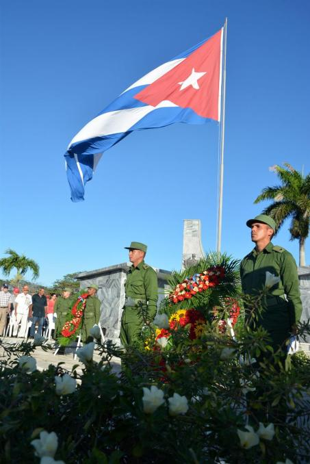 Tributo del pueblo holguinero a los héroes y mártires caídos por la defensa de la Patria. 7 de diciembre de 2018. UHO FOTO/Luis Ernesto Ruiz Martínez