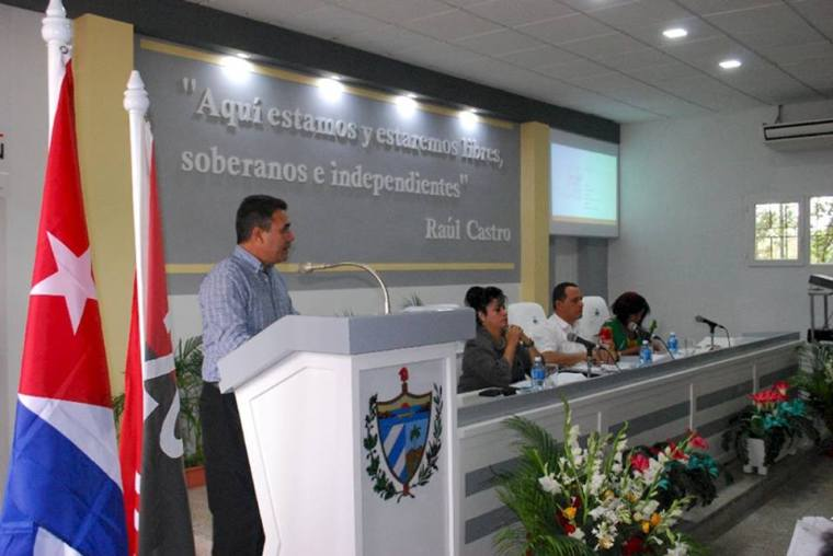 Presentación del Portal Ciudadano Holguín. Foto: Carlos Parrta Zaldívar.