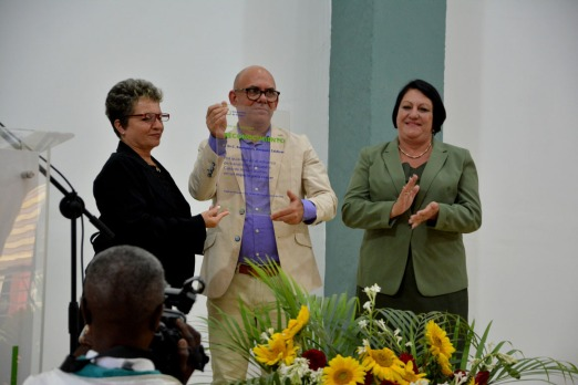Momentos del acto de entrega y recepción del cargo de Rector de la Universidad de Holguín, efectuado el 12 de enero de 2019. UHo FOTO/Luis Ernesto Ruiz Martínez