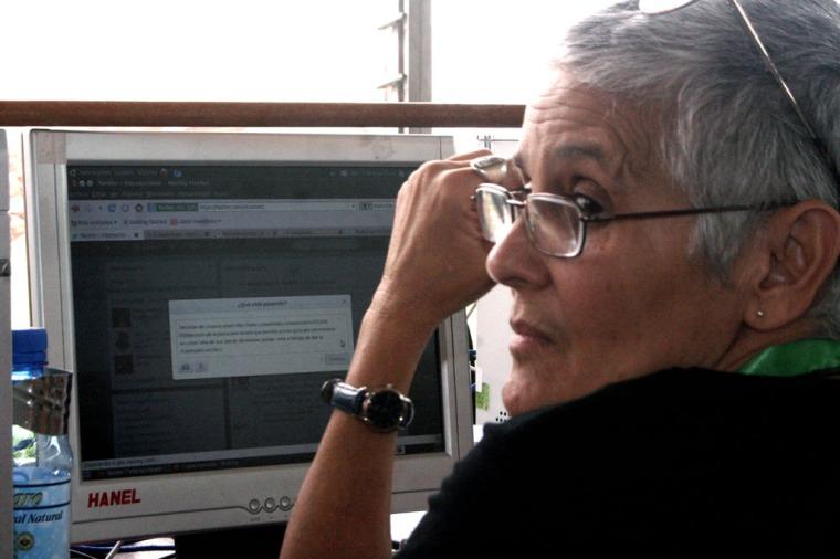 "La inolvidable Rosa Cristina Báez ""La Polilla Cubana"", pionera y fundadora de la blogosfera revolucionaria cubana."